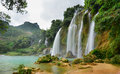 Ban Gioc Waterfall in Cao Bang, Vietnam Royalty Free Stock Photo