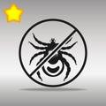 Ban mites black Icon button logo symbol