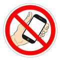 Ban phone, no mobile cell phone, warning sign ban phone, icon ban mobile phone vector illustration.