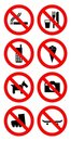 Ban sign Royalty Free Stock Photo