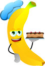 Banana as confectioner vector style illustrated vector format is available Royalty Free Stock Photos