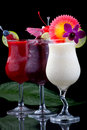 Banana, Blueberry and Raspberry Daiquiri Royalty Free Stock Images