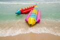 Banana Boat and wave Royalty Free Stock Photo