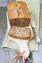 Banana breakfast loaf Stock Images