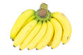 Banana bunch isolated on white Royalty Free Stock Photo