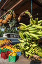 Banana Bunches, Latin America street market Royalty Free Stock Photo