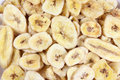Banana chips close up of Stock Photo