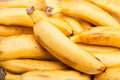 Banana closeup whole many focus Stock Image