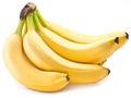 Banana fruits on over white background Stock Photography