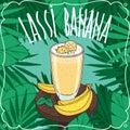 Banana Indian drink Lassi with fresh juice