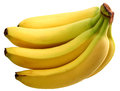 Banana isolated over white background Stock Photo