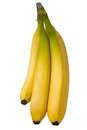 Banana isolated on white with clipping path Stock Image