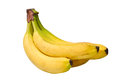 Banana isolated on white with clipping path Stock Photography