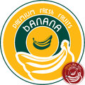 Banana label vector sign Royalty Free Stock Photos