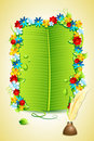 Banana Leaf Invitation Letter Royalty Free Stock Image
