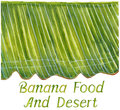 Banana leaf painting for background