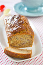Banana loaf cake Royalty Free Stock Photography