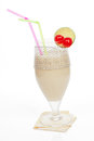 Banana milkshake. Royalty Free Stock Photos
