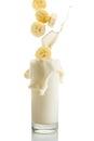Banana Milkshake Royalty Free Stock Photo