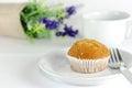 Banana muffin cake Royalty Free Stock Photo