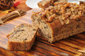 Banana nut bread Royalty Free Stock Images
