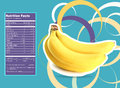 Banana nutrition facts creative design for with label Stock Images