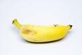Banana  over white background Royalty Free Stock Photo