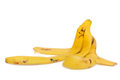 Banana peel isolated on white background Stock Images