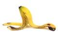 Banana peel on white background Stock Image