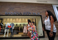 Banana republic retail clothing store las vegas nevada fri june shoppers walk past a in las vegas nevada on friday june Stock Photo