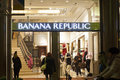 Banana republic shop in the quadrilatero doro rectangle of gold fashion district in milan italy Royalty Free Stock Image