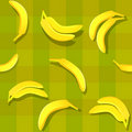 Banana seamless Stock Images