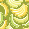 Banana seamless pattern Stock Photos