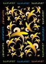 Banana seamless pattern Stock Photography