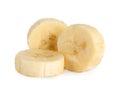 Banana slice closeup Royalty Free Stock Photo