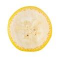 Banana slice on white background Royalty Free Stock Photo