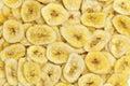 Banana slices background Royalty Free Stock Photo