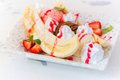 Banana split dessert Royalty Free Stock Photo