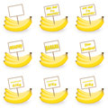 Banana with a tag illustration in white background Stock Photos