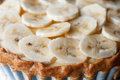 Banana tart fresh sliced cream Stock Images