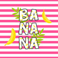 Banana tshirt design vector print. Royalty Free Stock Photo
