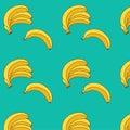 Banana vector illustration. seamless pattern