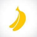 Banana vector sign