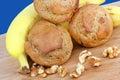 Banana Walnut Muffins Royalty Free Stock Photo