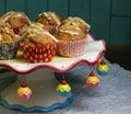 Banana Walnut muffins with white chocolate and cinnamon Royalty Free Stock Photo