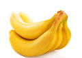 Banana yellow isolated over white background fresh fruit Royalty Free Stock Images