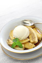 Bananas foster american cuisine classic dessert Royalty Free Stock Photography