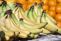 Bananas fruit market with green yellow Royalty Free Stock Photo