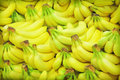 Bananas pile of on a market Stock Photography