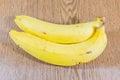ฺฺbananas on wooden background fresh bananas Stock Images